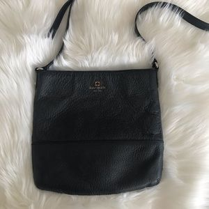 KATE SPADE leather bag.  Black, pre-owned.